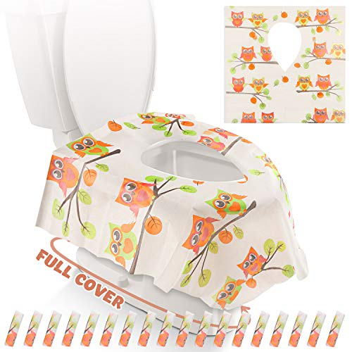 Gimars XL Large Full Cover Disposable Travel Toilet Potty...