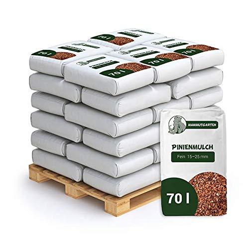 MammutGarten Rindenmulch Kiefer Rinde Garten Fein 10-20mm 70l Sack x 36 STK (2520 L)