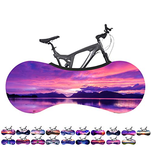 DORALO Fiets Bike Covers Indoor Bike Cover, Universele Fiets Cover Fiets Stofdicht Zon Bescherming Band Cover Mountain Bike Indoor Storage Tassen Stretch Fiets Stofzuigerzak [160X55cm]