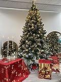 EVERGREEN CLASSICS Albero di Natale Artificiale innevato 180 con luci e Telecomando