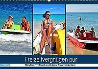 Freizeitvergnuegen pur - Mit dem Tretboot an Kubas Traumstraenden (Wandkalender 2022 DIN A2 quer): Tretboot-Touren an der kubanischen Kueste (Monatskalender, 14 Seiten )
