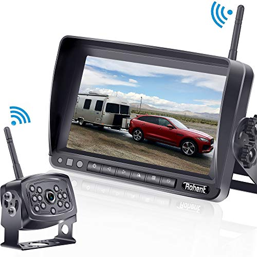 Rohent HD 960P Digital Wireless Backup Camera with 7''Monitor High-Speed Observation System for...
