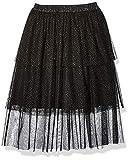 Amazon Brand - Spotted Zebra Kids Girls Midi Tutu Skirt, Black Sparkle, Small