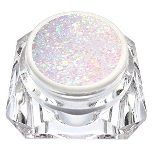 KM-Nails extrem Diamant Glitter Gel weiß irisierend 15ml LED und UV härtend