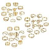 CASSIECA 40 Pcs Midi Anillo Bohemio Knuckle Ring Sets para Mujeres Niñas Moda Dedo Nudillo Anillos Apilables Vintage Knuckle Midi Anillos Set Moda Regalo