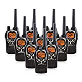Midland GXT1000 GMRS Walkie Talkie - Long Range Two Way Radio with NOAA Weather Scan + Alert, 50 Channels, and 142 Privacy Codes (Black/Silver, 10 Radios)