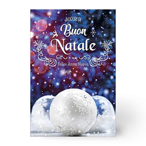 Magic In The Moonlight Biglietti Auguri Natalizi Buon Natale E Buone Feste (Tre Palline Argento)