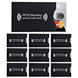 Intirilife 10x RFID Blocco Cover di Protezione in Nero - 10 Pezzi RFID Blocker per Carte CE, Carte bancarie, Carte di Credito, Carte d'identità – ProtezionediSicurezzaControIlfurtodiDati