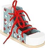 Small Foot- Chaussure Bois, s'exerce à Enfiler et à Nouer Les Lacets de manière ludique, pour Les Enfants à partir de 3 Toys, 11887
