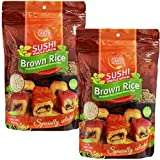 Brown Sushi Rice, Gluten Free Premium Japanese Short Grain Brown Rice, Sticky Rice - Specially...