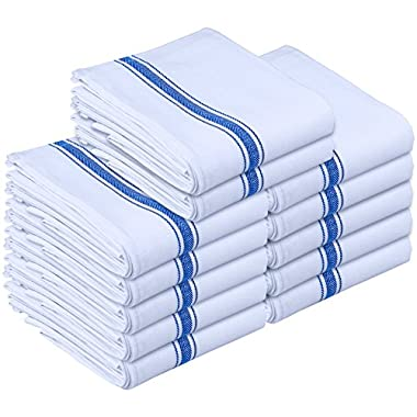 Utopia Towels Kitchen Towels - Dish Cloth (12 Pack) - Machine Washable Cotton White Kitchen Dishcloths, Dish Towel & Tea Towels (15 x 25 Inch) - by