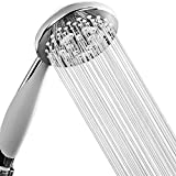 HOTEL SPA - Handheld Shower Head High Pressure - 4.25 Inch Rain Shower Head - 7-setting, Shower Head with Handheld Spray, Ultra-Luxury, Showerspa (Chrome)