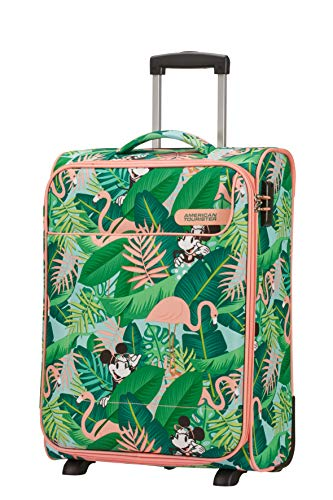 American Tourister Funshine Disney Upright S Bagaglio a Mano, 55 cm, 39 L, Multicolore (Minnie Miami Palms)