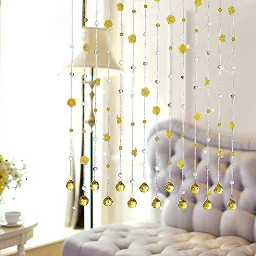 ZXL gordijnen met parels om op te hangen van glas voor deur, decoratief, grootte en kleur van de bruiloft (kleur: A, grootte: 130 x 80 cm)