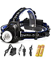 AloneFire Head lamp XM-L T6 led 2000LM rechargeable Headlights lamp lights for camping, hunting and outdoors
