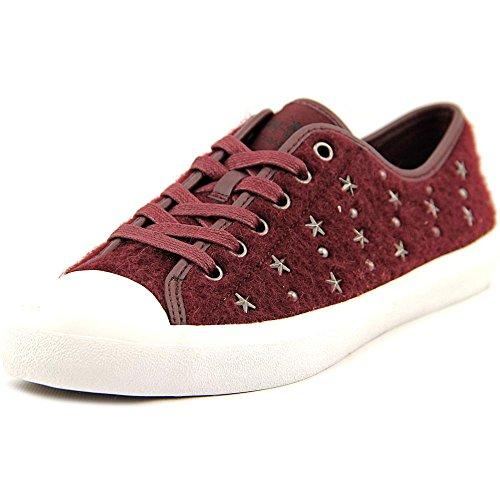 COACH Women's Empire Burgundy Star Sneaker (5)