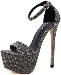 Amazon Sandalias Zapatos De esCremallera Vestir Longqspjspd nwmvN80