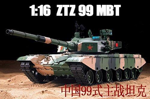 HengLong 1/16 Scale Radio Remote Control Chinese ZTZ 99 MBT Tank Air Soft RC Battle Tank Smoke & Sound