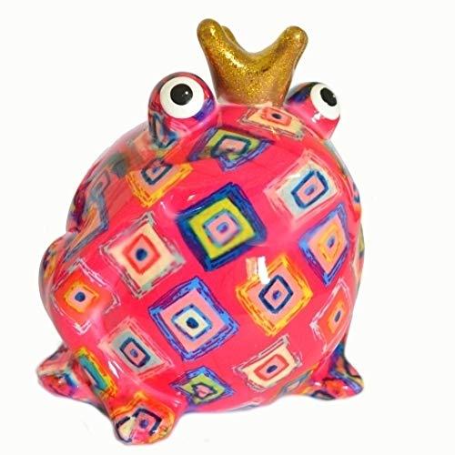 Pomme Pidou Spardose Frosch Freddy pink mit Rauten
