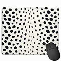 """Chic Black White Cheetah Print Pattern Monogram Mouse Pad Non-Slip Rubber Gaming Mouse Pad Rectangle Mouse Pads for Computers Desktops Laptop 9.8"""" x 11.8"""""""
