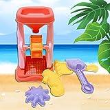 SunYueY 5 Unids Verano Al Aire Libre Playa Reloj De Arena Pala Rastrillo Molde Kid Water Sand Play Juego De Juguetes, Juego De Regalo Intelectual Color Aleatorio