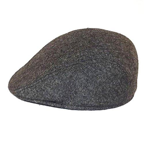 Chapeau-tendance - Casquette Anthracite chinée Cache Oreilles - 55 - Homme