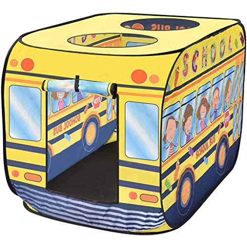 Portable Pop Up Kids Play Tent, Binnen/Buiten Game huis/speelhuis, Foldable Children's School Bus Tent Toy, Adventure Station baby
