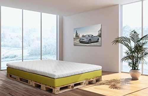 boxspringbedtenshop24.de - Easy Edition pocketveringmatras 140x200 - Original WELCON ROCKSTAR matras met pocketvering en 9 cm koudschuim topper H1, H2, H3, H4 en H5 in grijs, lichtgrijs, donkergrijs, bruin, beige, blauw, rood, geel, enz.