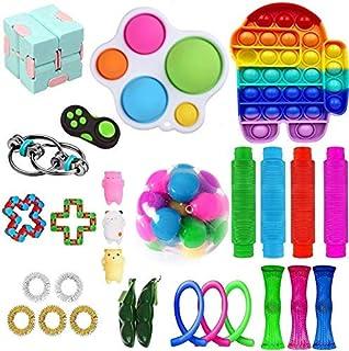Fasdyket Sensory Fidget Toys - Jouets Anti-Stress pour la Concentration et Le Calme - Ensemble de Jouets et faveur de fête...