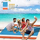 Beach Blanket,Picnic Blankets Waterproof Sandproof Beach Mat for 4-7 Adults,Oversized Lightweight Outdoor Blankets for Travel, Camping, Hiking.