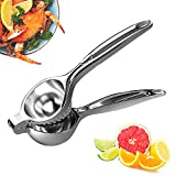 Lemon Squeezer Press Hand Juicer - SURDOCA 2nd generation Stainless Steel Fruit Juicer, Heavy Duty Metal Orange Juicer, Citrus Juicer, Lemon Juicer, Manual Fruit Juicer, Lime Squeezer