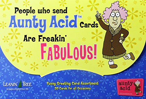 All Occasion Funny Greeting Card Assortment Boxed Greeting Cards - 20 Cards & 22 Envelopes People Who Send Aunty Acid Cards Are Freakin Fabulous