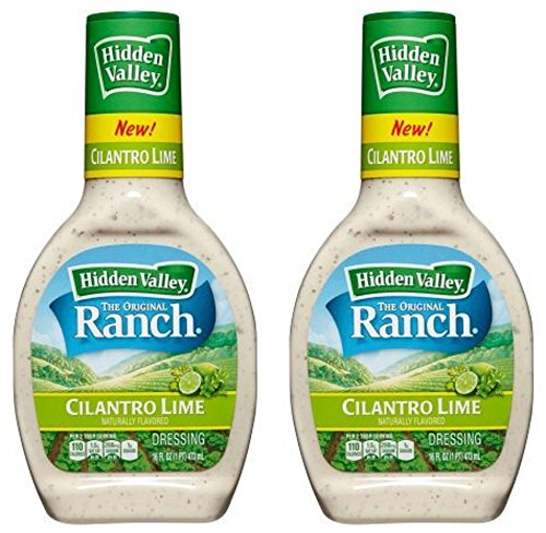 Hidden Valley Ranch Dressing - Cilantro Lime - Naturally Flavored - Gluten Free - Net Wt. 16 FL OZ (473 mL) Per Bottle - Pack of 2
