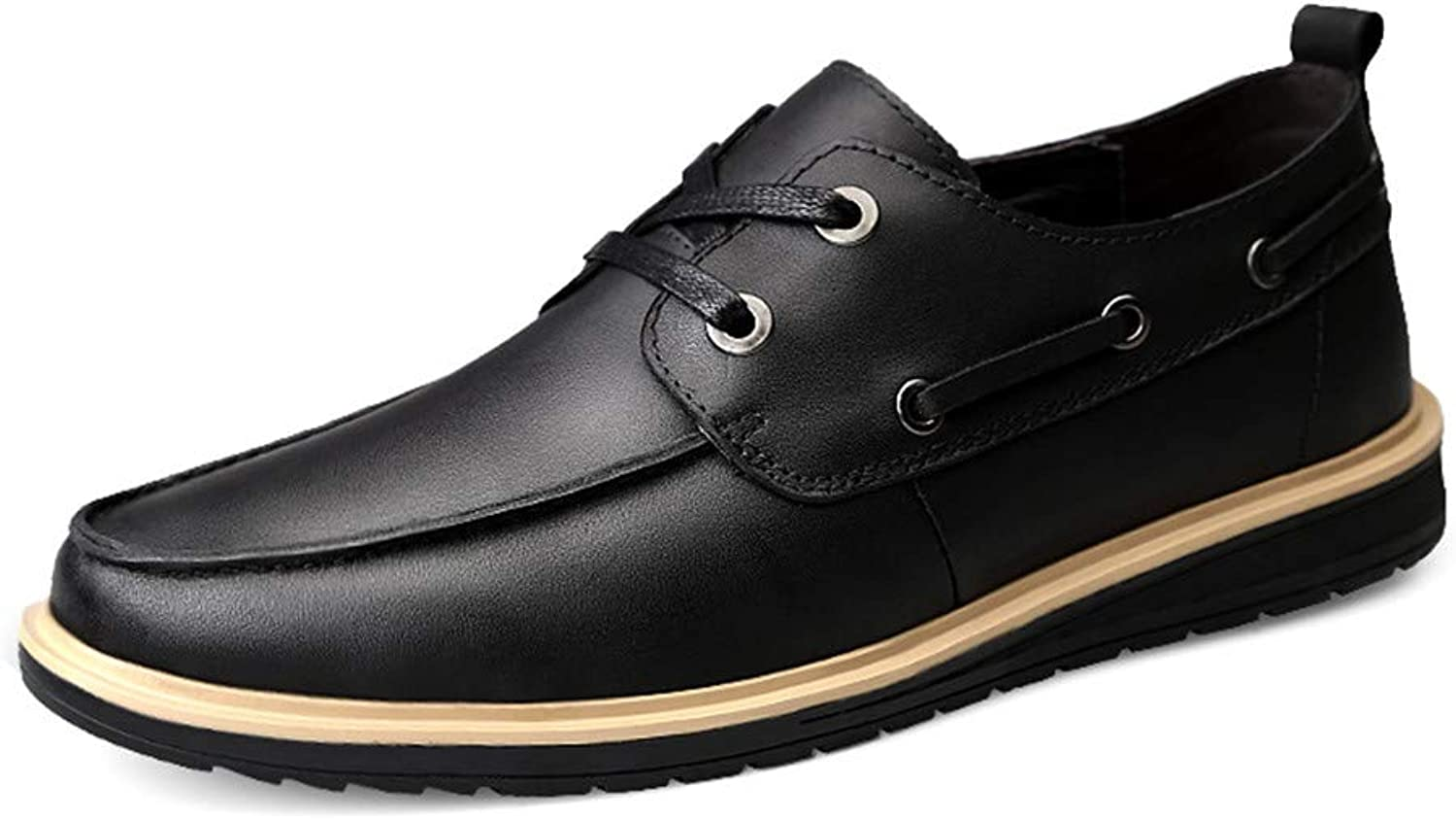 CHENXD shoes, Men's Fashion Round Toe Oxford Casual Personality Light and Comfortable Formal shoes