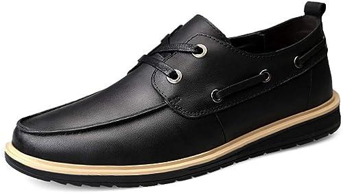 2019 Richelieus Homme, Oxford Chaussures Hommes Noir Semelle en Caoutchouc pour Hommes Mode Oxford Décontracté Personnalité Léger Et Confortable Bout Rond Chaussures Habillées