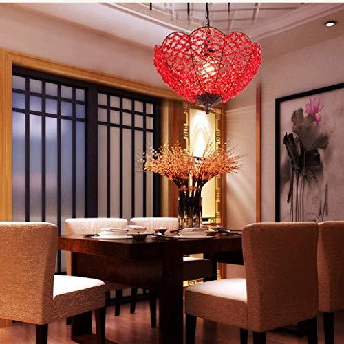 WHKHY Lampadario Moderno dell'hotel del candelabro del corridoio del corrimano del Festone Fatto a Mano di Nozze del Balcone Moderno dei candelieri,Rosso