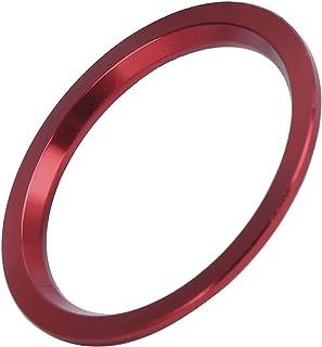 Acabamento de botão de ignição, acabamento de botão de liga de alumínio vermelho moderno para acabamento interior do carr...