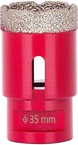 Diamant Bohrkrone Fliesen 35mm | PREMIUM Feinsteinzeug Bohrer für Winkelschleifer Flex | Temperaturbeständiger Fliesenbohrer Diamant | Fliesen bohrkrone | Diamantbohrer
