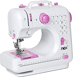 NEX Sewing Machine, Crafting Mending Machine,Children Present Portable with 12 Built-in Stitches