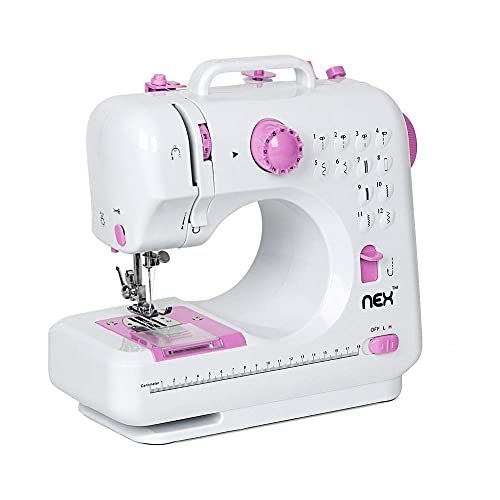 19fe91e6095c6a NEX Sewing Machine Children Present Portable Crafting Mending Machine with  12 Built-In Stitched