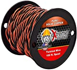 Extreme Dog Fence 16 Gauge Twisted Electric Dog Fence Wire | Solid Core Copper Wire - 100 FT | for Connecting Transmitter to Perimeter Wire | Compatible with All Brands, Invisible Fence, Perimeter,