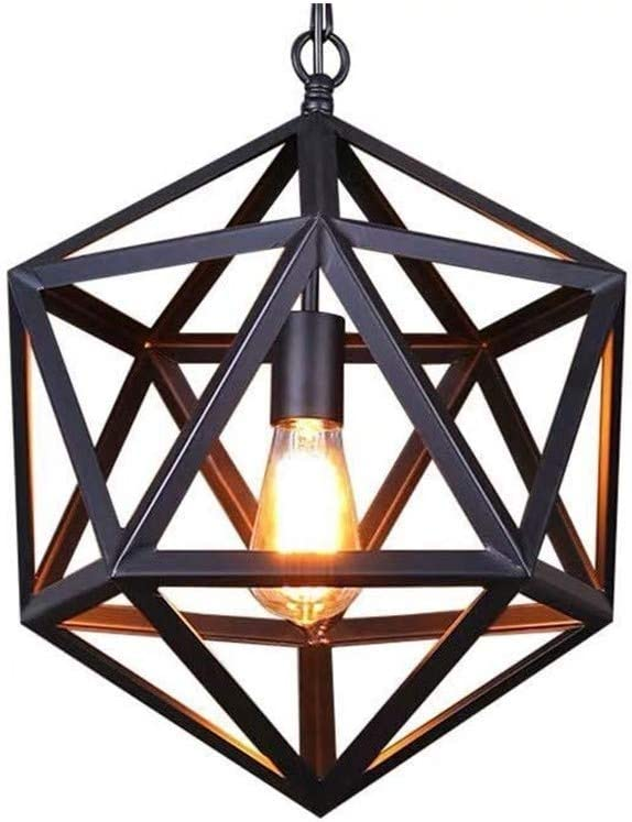 ZXC Retro Industrial Iron Chandelier Creative R All items in the store San Antonio Mall Polyhedron Black