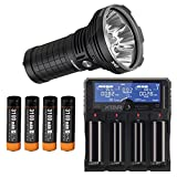 Combo: Acebeam X45 CREE XHP70 LED Flashlight w/Xtar VP4 Charger +4x Acebeam Batteries
