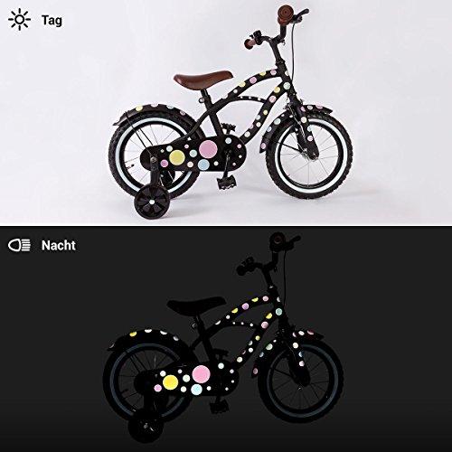 Motoking Reflektierende Aufkleber für Fahrrad, Helm und mehr – Pastellpunkte - 4