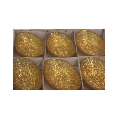 Akcam Hand Made Knabber Frosch Gold Glitter 6er Knabberschale
