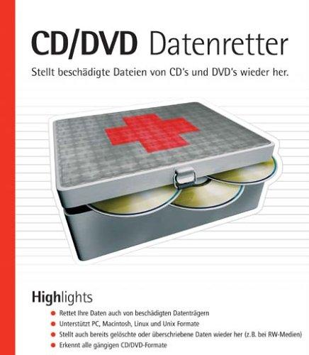 CD/CDV Datenretter, CD-ROMStellt beschädigte Dateien von CDs und DVDs wieder her. Für Windows 98(SE)/ME/2000/NT4/XP