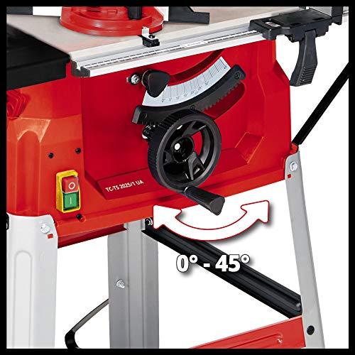 Einhell Tischkreissäge TC-TS 2025/1 UA (1800 W, Sägeblatt Ø250 x Ø30 mm, max. Schnitthöhe 85 mm, Tischgröße 642 x 487 mm) - 5