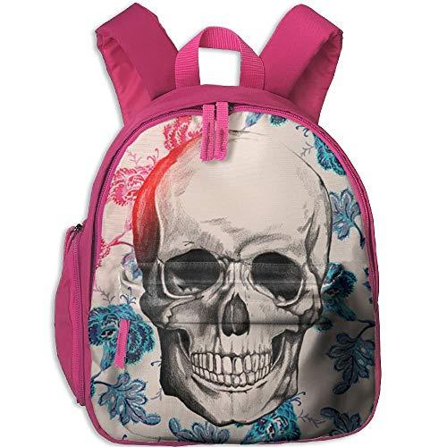 Yuanmeiju Flowers Skull Student Mochilas Escolares Pies Super Bookbag