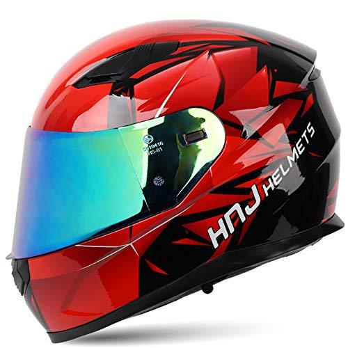 RUYICZB Cascos Adultos Casco Bluetooth Motocross Flip Up Doble Visera Modular Casco de Motocicleta MTB Casco Antiniebla ECE/Dot Casco Integral para Hombres Mujeres Four Seasons (57-64cm),Magic Lens,M