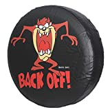HEALiNK Spare Tire Cover,PVC Leather Waterproof Dust-Proof Back Off Rv Wheel Covers for Jeep Liberty Wrangler SUV Camper Travel Trailer Accessories (17 inch for Tire Φ 31'-33')